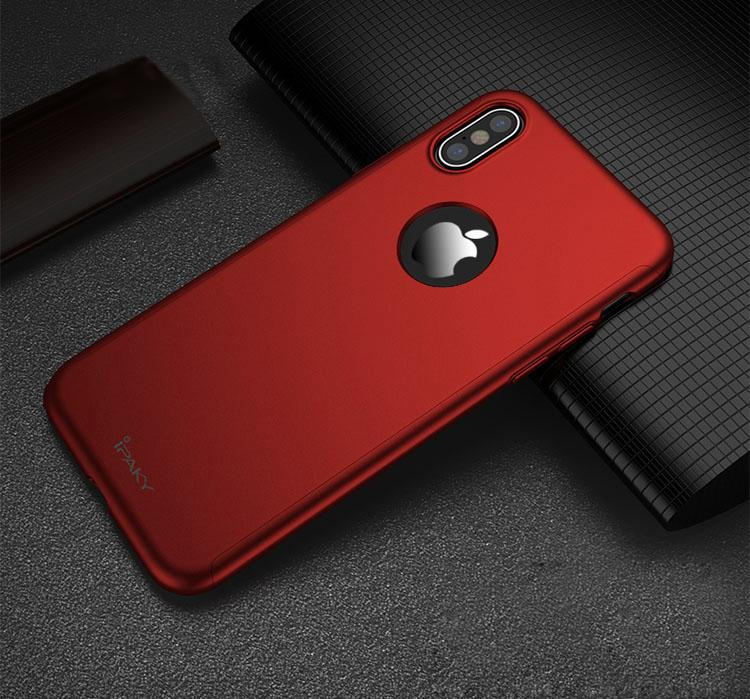 Boîtier rouge Apple iPhone X 360