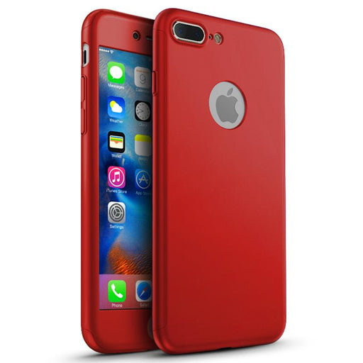 Coque rouge 360 Apple iPhone 7 Plus 360