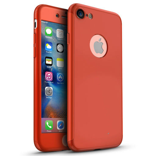 Coque rouge Apple iPhone 8 360
