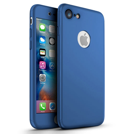 Coque bleue Apple iPhone 7 360