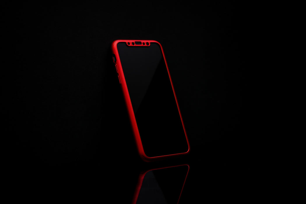 Boîtier rouge Apple iPhone XS Max 360