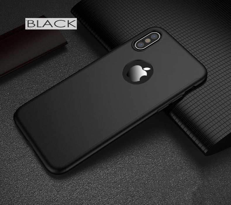 Etui noir Apple iPhone X 360