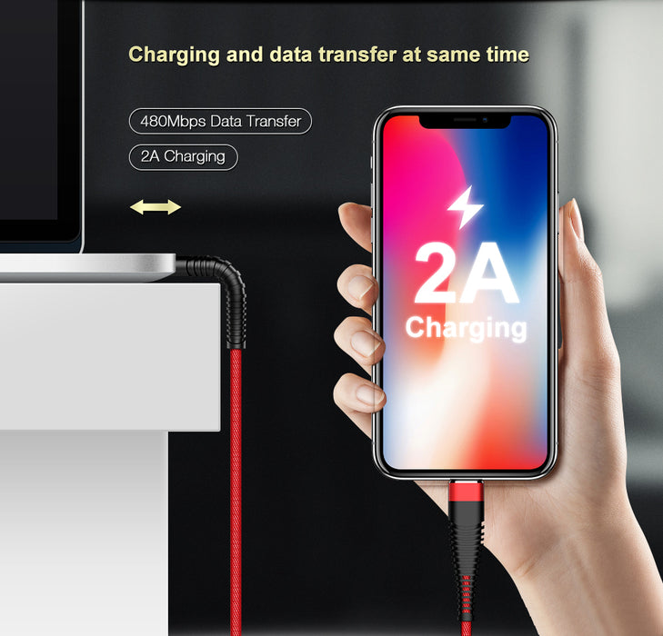 Câble Lightning pour iPhone – Rouge