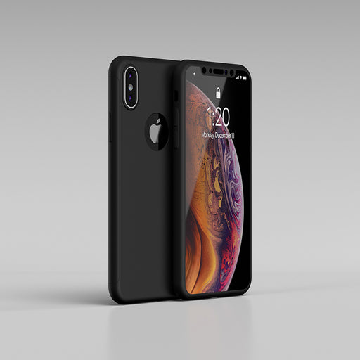 Etui noir Apple iPhone XS Max 360