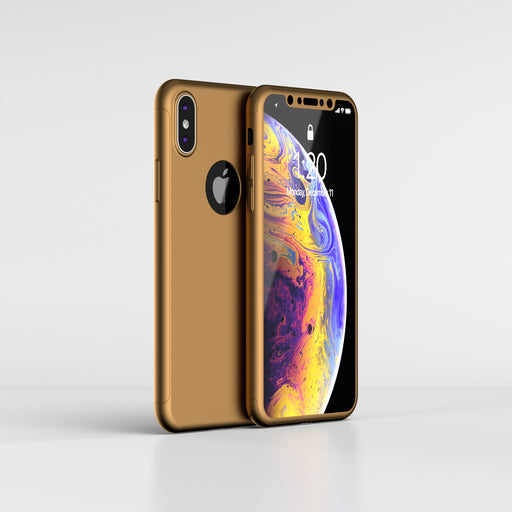 Coque en or Apple iPhone XS 360