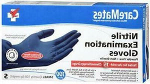 CAREMATE NITRILE EXAMINATION GLOVES (S) 100