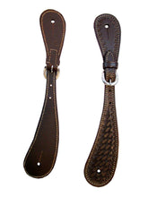 Dark Brown Western Spur Straps Rodeo Cowgirl Ranch Leather Show Tack
