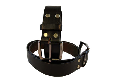 Men Leather Belt Black Genuine Fashion Wear