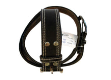 Men Leather Belt Black Genuine Whhite Stitching Fashion Wear