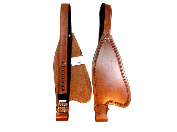 Brown Leather Saddle Fender Set Replacement Horse Western Hobble Strap
