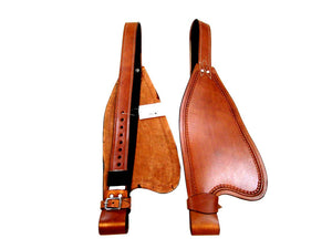 Brown Leather Western Saddle Fender Set Replacement Horse Hobble Strap