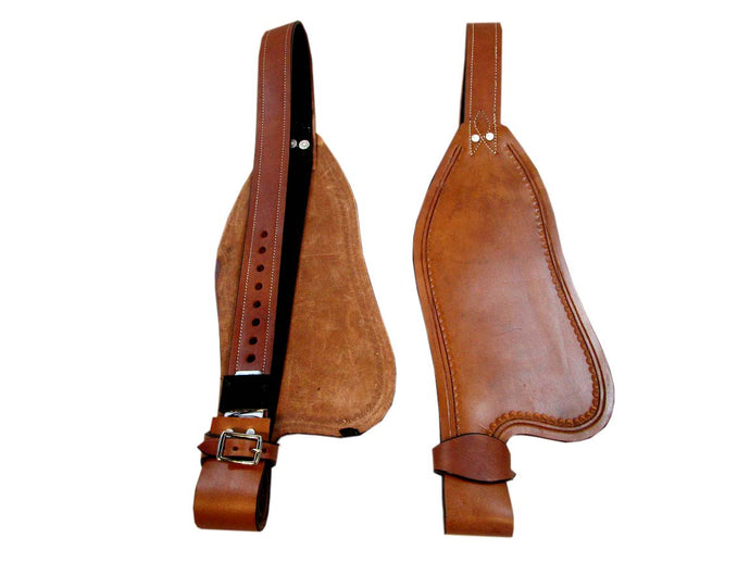 Smooth Leather Western Saddle Fender Replacement Horse Roping Trail
