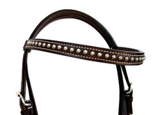 Silver Studded Headstall Barrel Racing Tack Set Trail Western Bridle