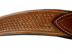 Heavy Western Horse Breast Collar Softy Padded Basket Weave Tooled