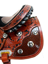 Western Saddle Barrel Racing Trail Horse Gator Show Tooled Tack 15 16