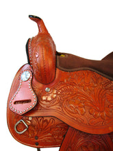 Western Saddle Barrel Racing Horse Trail Tooled Leather Tack Set 16 17