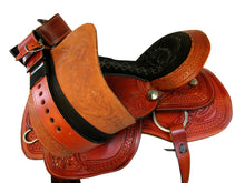 Barrel Racing Western Saddle 15 16 Waffle Floral Tooled Pleasure Trail