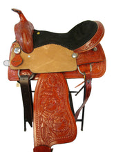 Trail Western Saddle Tooled Leather Barrel Racing Horse Tack 15 16