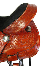 Trail Saddle Western Horse Pleasure Leather Barrel Racing Tack 15 16