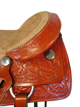 16 17 Floral Tooled Ranch Working Cowboy Rodeo Roping Western Saddle