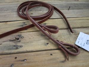 Western Split Reins Headstall Leather Tie End Barrel Horse Tack