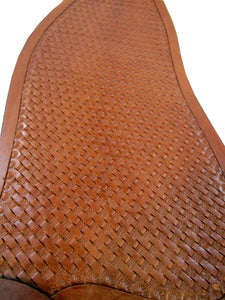Western Saddle Fender Replacement Basket Weave Roping Trail Barrel