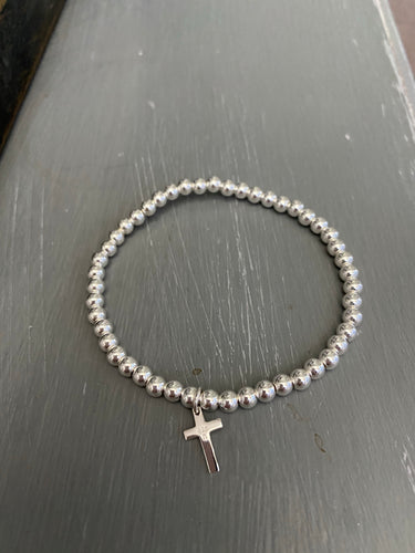 Sterling Silver bracelet with cross