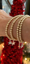 4mm gold filled bracelet with sterling silver star