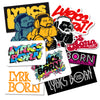 Lyrics Born Sticker Set