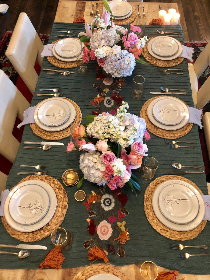 Beautiful Floral Table Topper