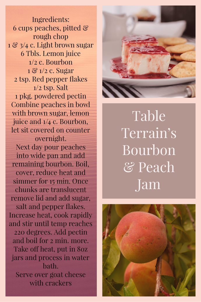 Bourbon and Peach Jam