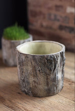 Faux Bois Trunk Planter | Table Terrain January tablescapes, men's table decorations, kitchen table arrangements