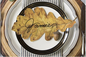 Place cards, Oak Leaf (Set of 12)
