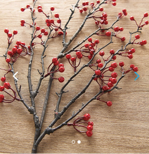 Berry Branch | Table Terrain winter table centerpieces, simple candle centerpieces, inexpensive table centerpieces