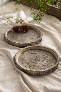 Faux Bois Log Dish - Table Terrain