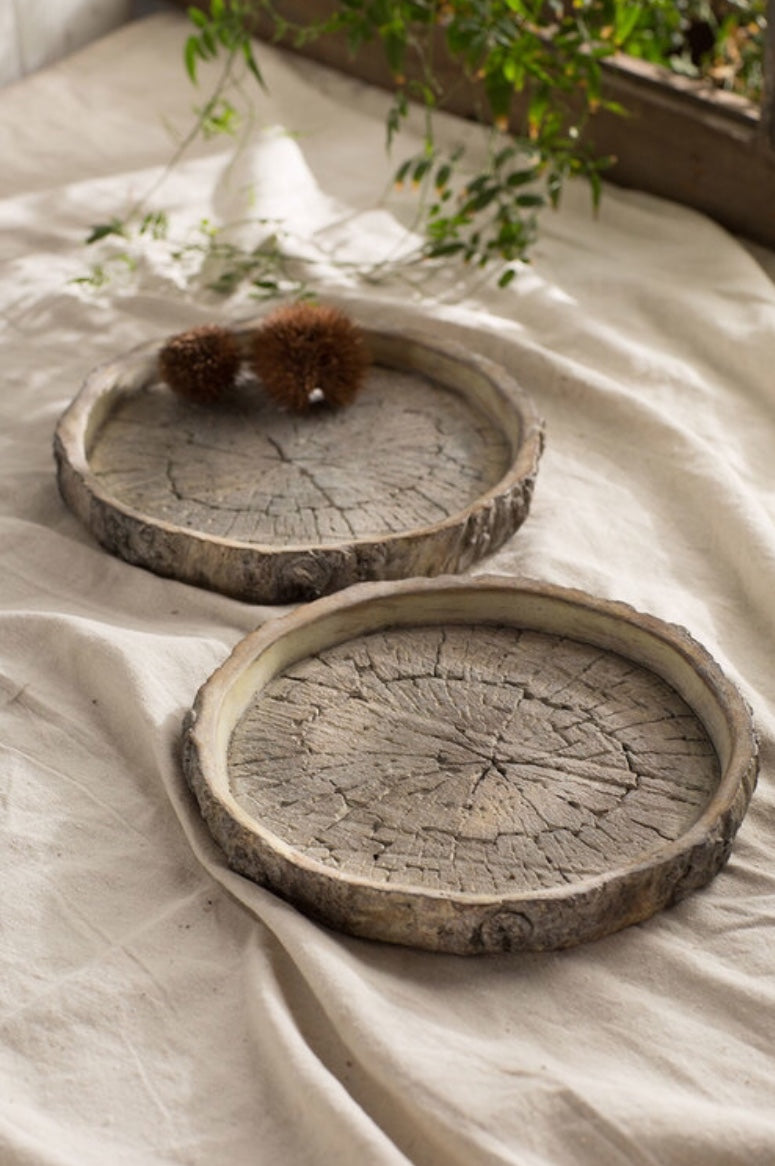 Faux Bois Log Dish | Table Terrain January tablescapes, men's table decorations, kitchen table arrangements