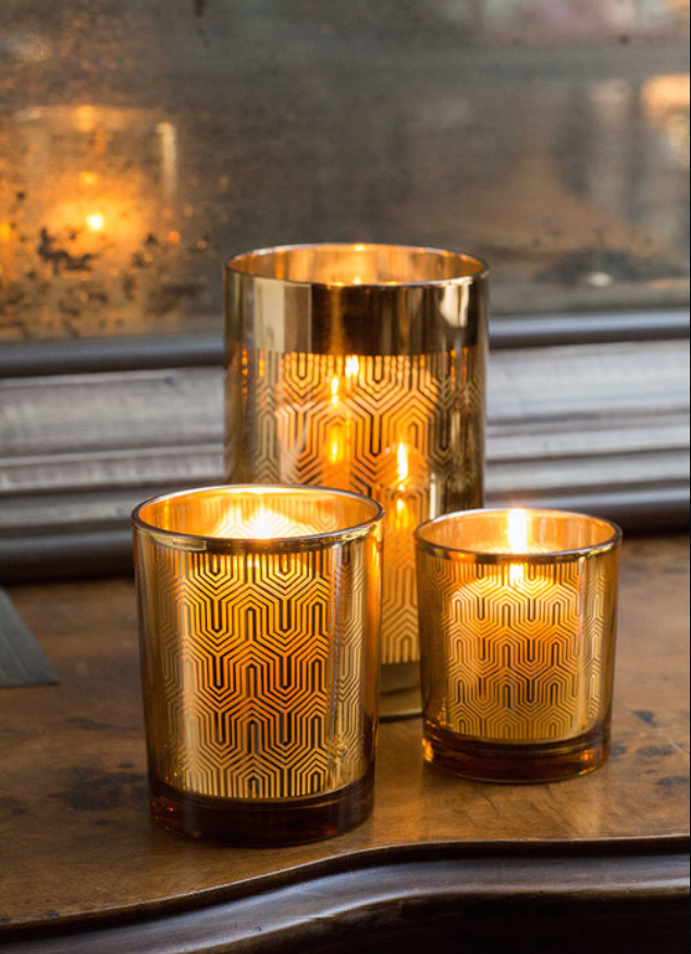 Gold Candle Holder-Medium | Table Terrain January tablescapes, men's table decorations, kitchen table arrangements