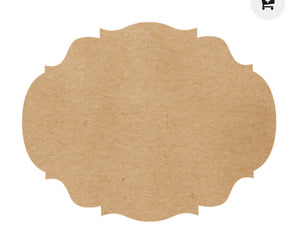 Placemats, Kraft French Frame (Set of 12)