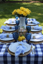 You Blue Me Away Tablescape Kit w/o Vases | Table Terrain blue gingham tablescape, brunch table decorations, picnic tablescape kit