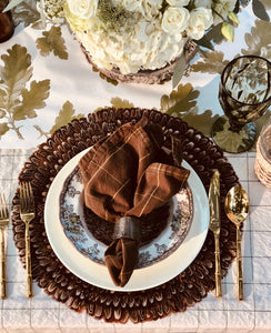 Placemats, Natural Pheasant Feather