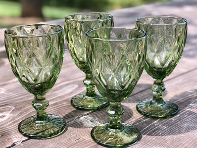 Goblets, Green (Set of 4)