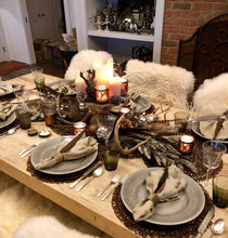 Winter Woodland Tablescape Kit Glam Edition w/Ecru Napkins | Table Terrain Christmas party table decorations, elegant winter table centerpieces, table candelabra centerpieces
