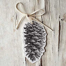 Pinecone Gift Tags | Table Terrain January tablescapes, men's table decorations, kitchen table arrangements