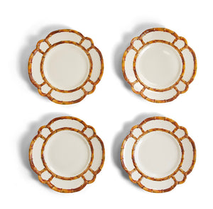 Plates, Bamboo Melamine (Set of 4)