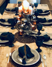Winter Woodland Tablescape Kit Glam Edition w/ Indigo Napkins | Table Terrain winter holiday table decorations, Christmas dinner table decor, Christmas tablescapes