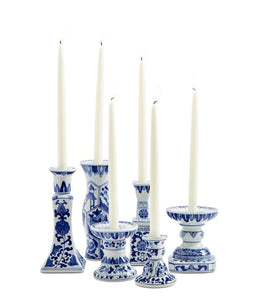 Candleholders, Blue & White (Set of 6)