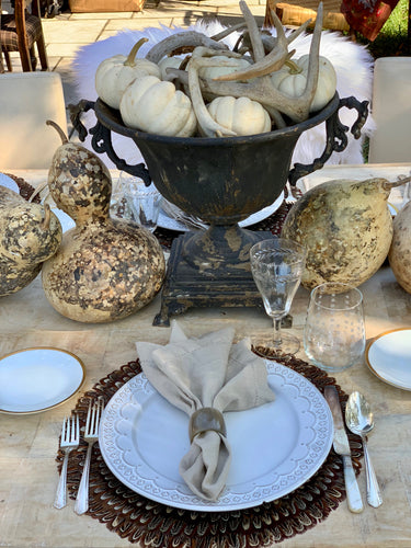 Legends of the Fall Tablescape Kit Ultra Edition-Neutral | Table Terrain masculine centerpieces, elegant non floral table centerpieces, rustic fall table decorations