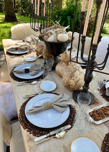 Winter Woodland Tablescape Kit Ultra Edition-Neutral | Table Terrain white tablescapes, holiday table settings Christmas, winter wonderland table centerpieces