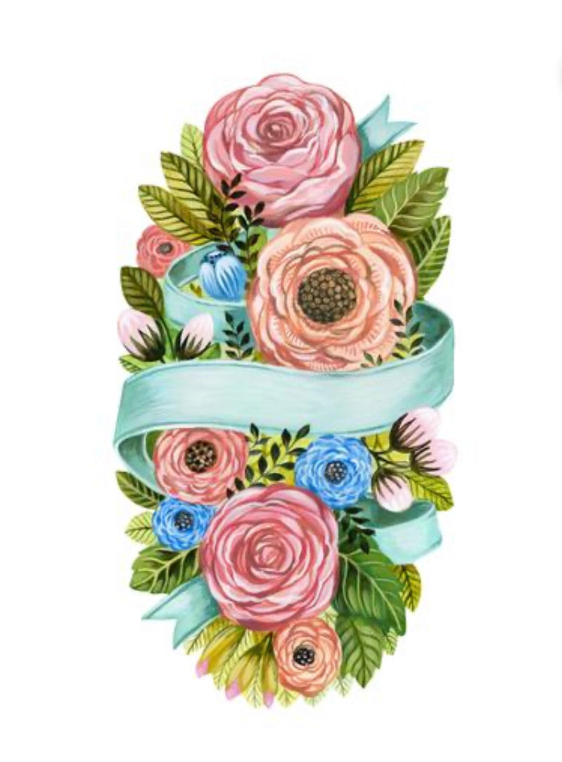 Place cards, Floral Bouquet-Set of 12