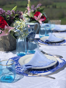 Placemats, Blue and White Paper (Set of 12)